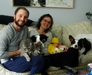 Dr. Kahn, new baby girl Lily and their family