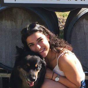 Chantal Klein with a dog